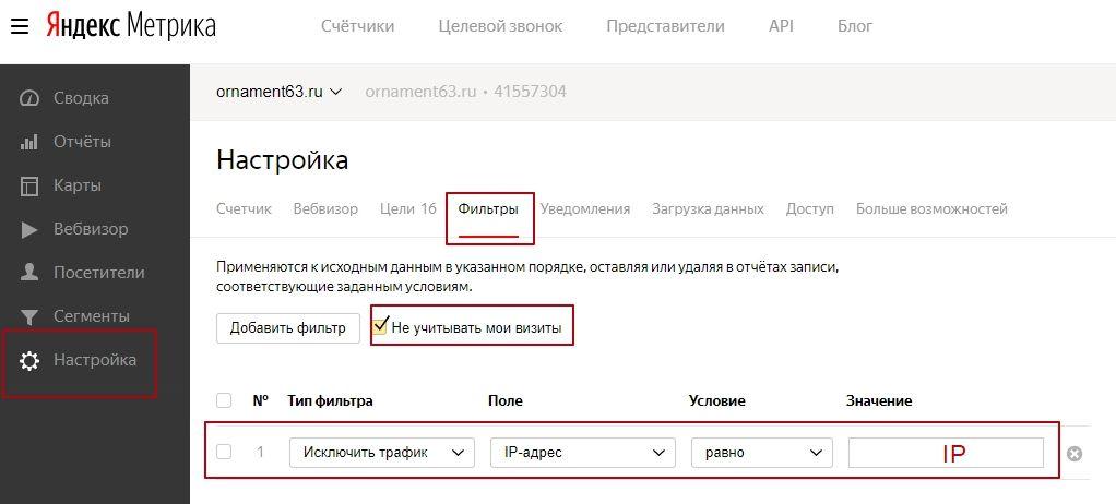 Как исключить себя из Яндекс.Метрики