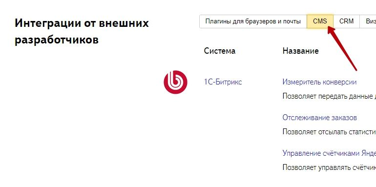 Настройка Яндекс.Метрики через плагины