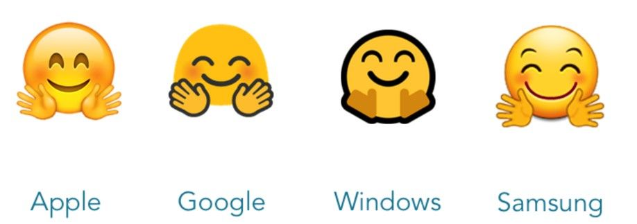 Как выглядят emoji на разных устройствах