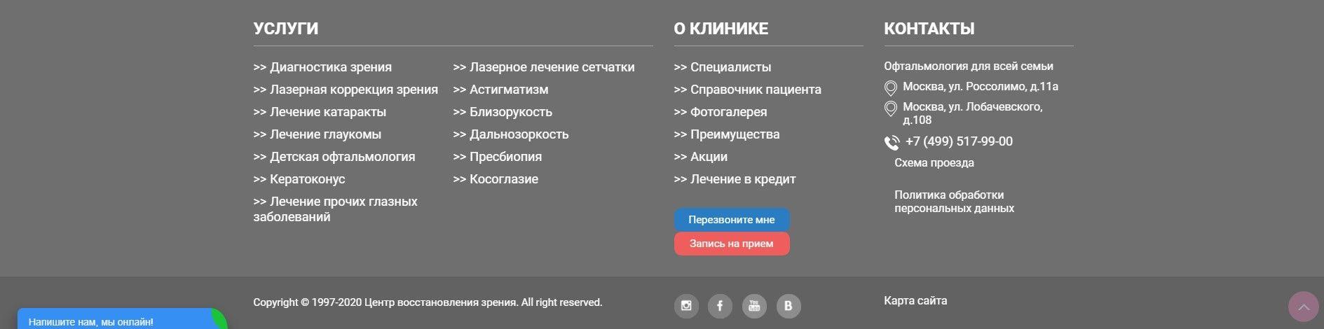 Возраст домена в подвале на примере www.cvz.ru